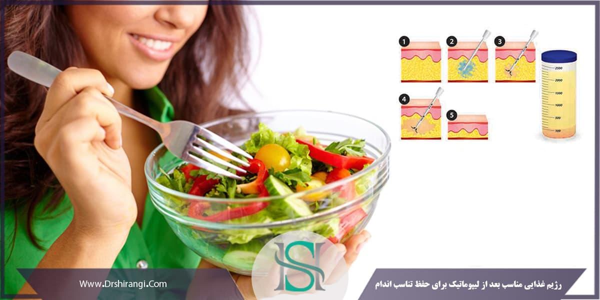 اهمیت تغذیه بعد از لیپوماتیک