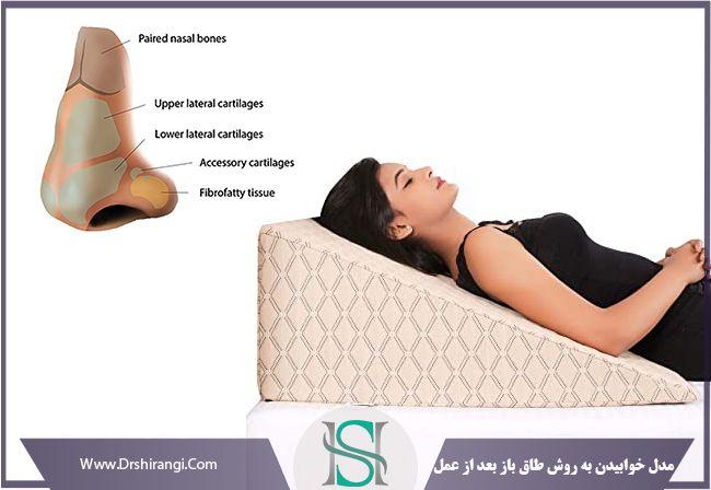 طاق باز خوابیدن بعد از عمل بینی